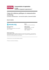 Chaire de relations publiques et communication marketing