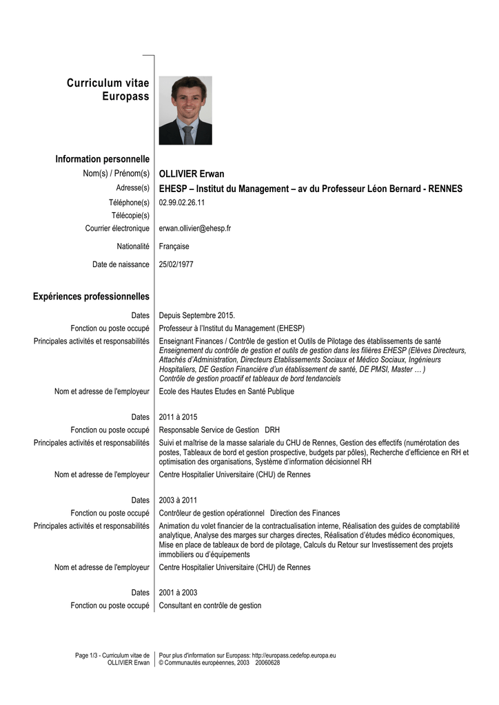 his  her cv