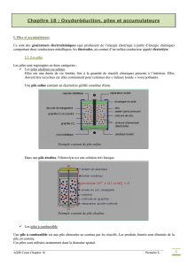 Oxydoréduction, piles et accumulateurs