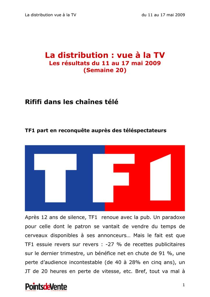 La Distribution Vue A La Tv