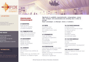 Brochure formation wedding planner expert