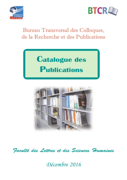 Catalogue illustré des publications