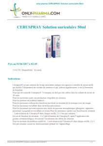 MédicamentCERUSPRAY Solution auriculaire 50ml - ONLY