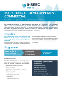 Marketing et développement commercial
