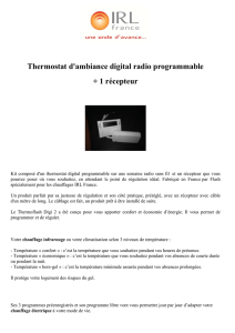 Thermostat DIGI 2 + recepteur