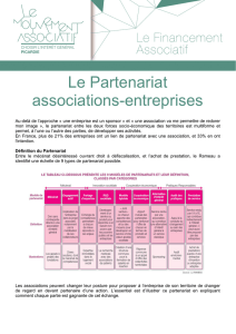 Le Partenariat associations-entreprises