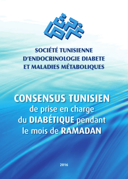 Consensus tunisien de prise en charge du diabétique