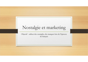 Nostalgie et marketing