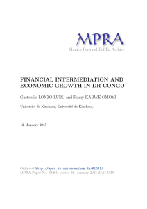 FINANCIAL INTERMEDIATION AND ECONOMIC GROWTH IN DR