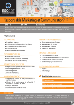 Responsable Marketing et Communication