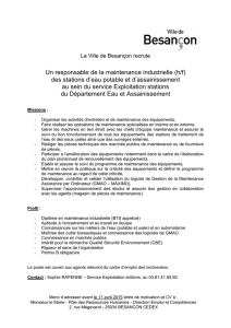 Responsable maintenance industrielle DEA