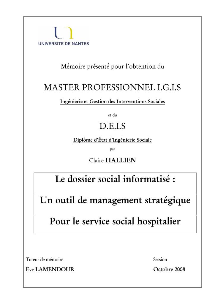 Le Outil Social De Dossier InformatiséUn eCxdrBo