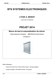 BTS SYSTEMES ELECTRONIQUES PROJET 2014
