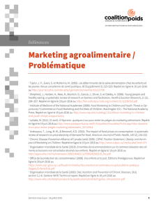 Marketing agroalimentaire / Problématique