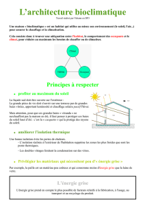 L`architecture bioclimatique