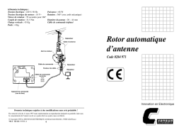 Rotor automatique d`antenne
