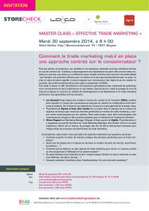 Comment le trade marketing met-il en place une approche centrée