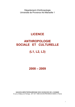 Licence0809 - MMSH Anthropologie