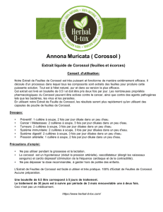 Annona Muricata ( Corossol ) - Herbal D-tox