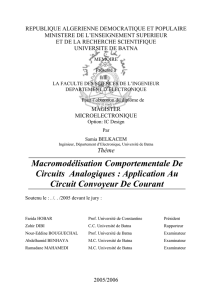 Application Au Circuit Convoyeur De Courant