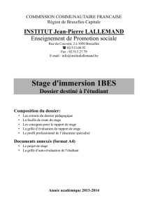 Stage d`immersion 1BES