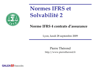 Norme IFRS 4 contrats d`assurance