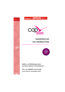 Vademecum du marketing - Ordre des Experts