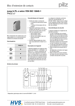 PILZ - PNOZ s7 - Bloc d`extension de contacts