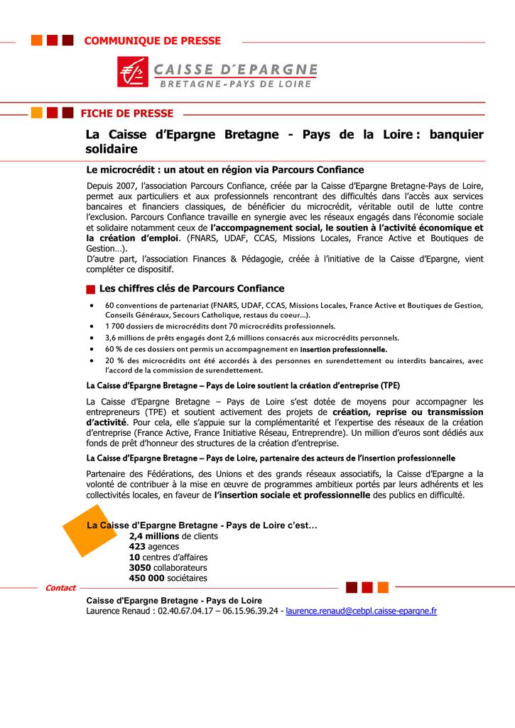 La Caisse D Epargne Bretagne Pays De La Loire