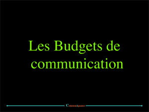Quelques exemples de budgets de communication