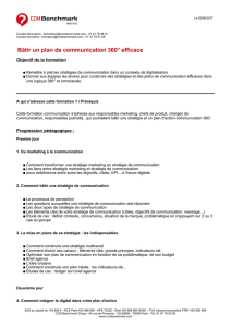 Bâtir un plan de communication 360° efficace