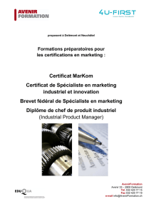 Brochure Spécialiste en Marketing