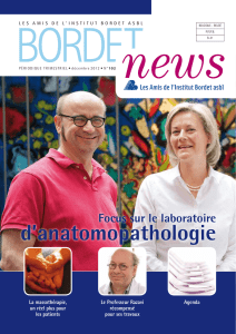 d`anatomopathologie - Amis Institut Bordet