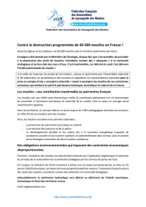 Contre la destruction programmée de 60 000 moulins en France !