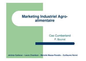 Marketing Industriel Agro- alimentaire