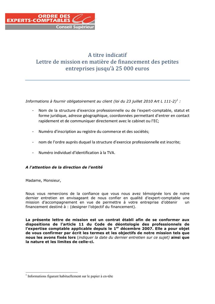 21092011 - Exemple de lettre de mission accompagnement