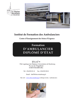Institut de Formation des Ambulanciers
