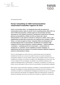 Farner Consulting et YJOO Communications construisent ensemble