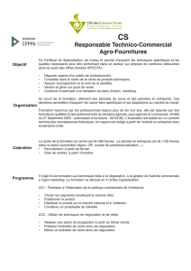 CS Responsable Technico-Commercial Agro