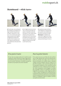 Skateboard – «Kick turn