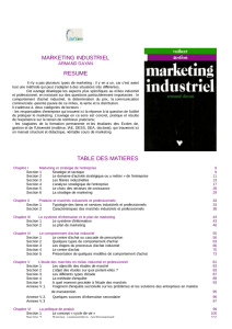 marketing industriel resume table des matieres