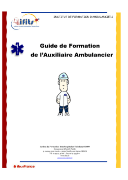 Polycopié - Formation ambulancier