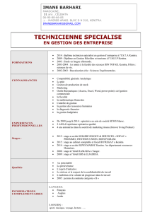 TECHNICIENNE SPECIALISE
