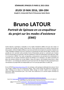 Bruno LATOUR - Université Paris 8