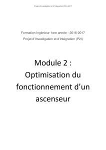 Module 2 : Optimisation du fonctionnement d`un ascenseur