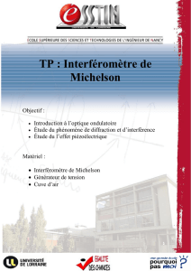 Tp michelson - Egalite des chances