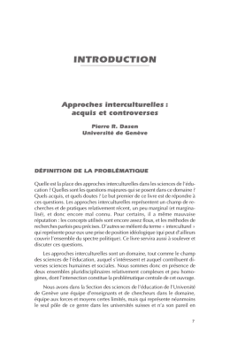 INTRODUCTION - Université de Genève