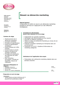 Réussir sa démarche marketing