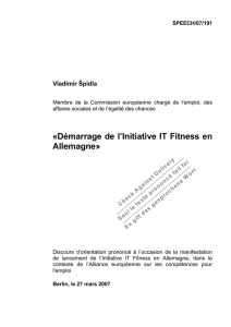 Démarrage de l`Initiative IT Fitness en Allemagne