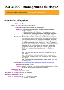ISO 31000 - management du risque